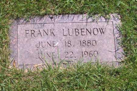 LUBENOW, FRANK - Richland County, North Dakota | FRANK LUBENOW - North Dakota Gravestone Photos