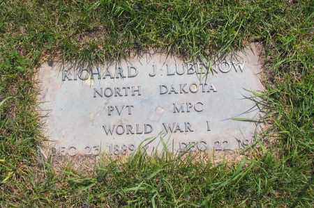 LUBENOW, RICHARD J. - Richland County, North Dakota | RICHARD J. LUBENOW - North Dakota Gravestone Photos