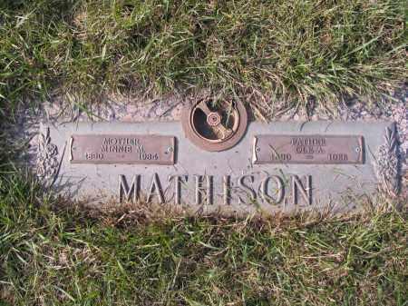 MATHISON, MINNIE M. - Richland County, North Dakota   MINNIE M. MATHISON - North Dakota Gravestone Photos