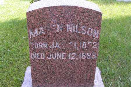 NILSON, MAREN - Richland County, North Dakota | MAREN NILSON - North Dakota Gravestone Photos