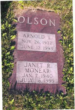 OLSON, JANET R. - Richland County, North Dakota | JANET R. OLSON - North Dakota Gravestone Photos