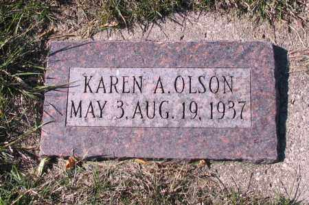 OLSON, KAREN A. - Richland County, North Dakota | KAREN A. OLSON - North Dakota Gravestone Photos