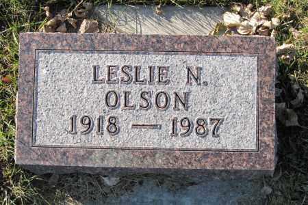 OLSON, LESLIE N. - Richland County, North Dakota   LESLIE N. OLSON - North Dakota Gravestone Photos