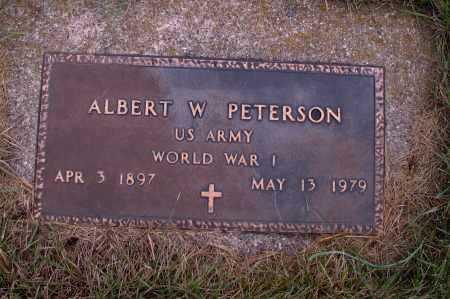 PETERSON, ALBERT W. - Richland County, North Dakota | ALBERT W. PETERSON - North Dakota Gravestone Photos