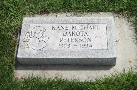 PETERSON, KANE MICHAEL - Richland County, North Dakota | KANE MICHAEL PETERSON - North Dakota Gravestone Photos