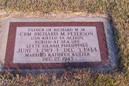 PETERSON, RICHARD M. JR. - Richland County, North Dakota   RICHARD M. JR. PETERSON - North Dakota Gravestone Photos