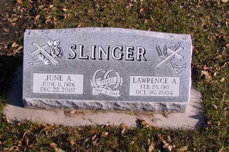 SLINGER, JUNE A. - Richland County, North Dakota   JUNE A. SLINGER - North Dakota Gravestone Photos