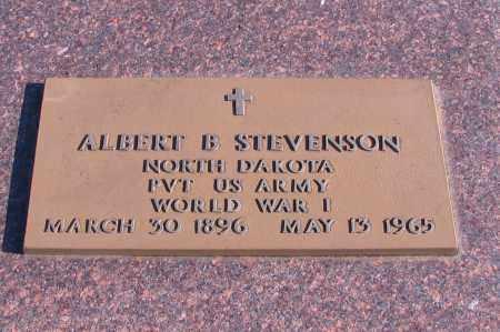 STEVENSON, ALBERT B. - Richland County, North Dakota   ALBERT B. STEVENSON - North Dakota Gravestone Photos
