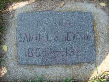 HEWSON, SAMUEL S. - Rolette County, North Dakota | SAMUEL S. HEWSON - North Dakota Gravestone Photos