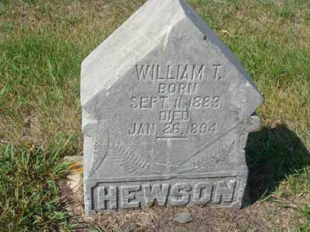 HEWSON, WILLIAM  T. - Rolette County, North Dakota | WILLIAM  T. HEWSON - North Dakota Gravestone Photos