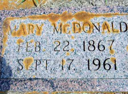 MCDONALD, MARY - Rolette County, North Dakota | MARY MCDONALD - North Dakota Gravestone Photos