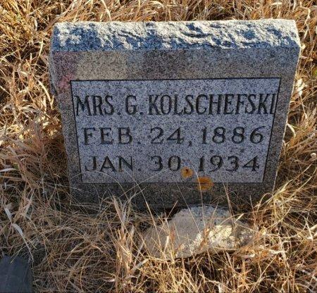 KOLSCHEFSKI, MRS. G. (GOTTLIEB) - Sheridan County, North Dakota   MRS. G. (GOTTLIEB) KOLSCHEFSKI - North Dakota Gravestone Photos