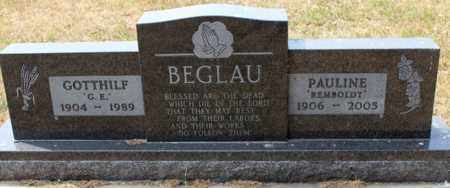 BEGLAU, PAULINE - Stutsman County, North Dakota | PAULINE BEGLAU - North Dakota Gravestone Photos