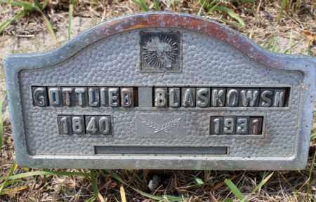 BLASKOWSKY, GOTTLIEB - Stutsman County, North Dakota | GOTTLIEB BLASKOWSKY - North Dakota Gravestone Photos