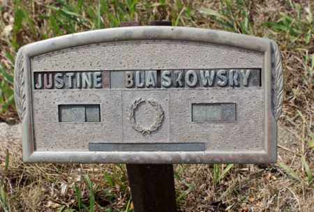 BLASKOWSKY, JUSTINE - Stutsman County, North Dakota | JUSTINE BLASKOWSKY - North Dakota Gravestone Photos