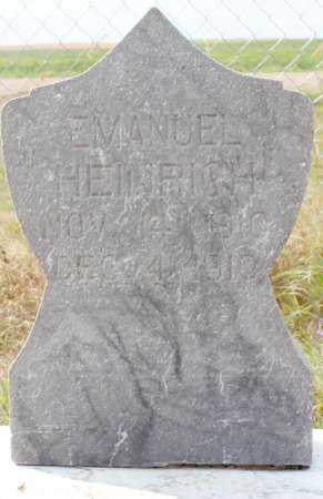 HEINRICH, EMANUEL - Stutsman County, North Dakota | EMANUEL HEINRICH - North Dakota Gravestone Photos