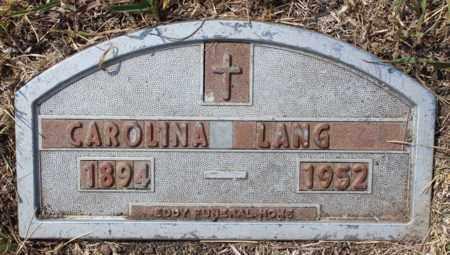 LANG, CAROLINA - Stutsman County, North Dakota   CAROLINA LANG - North Dakota Gravestone Photos