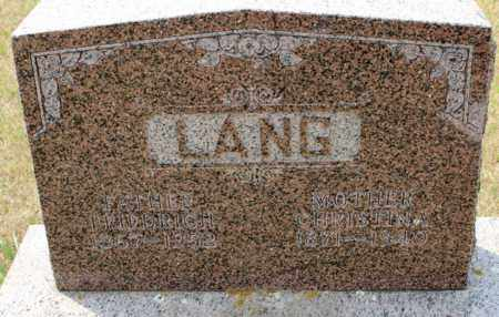 LANG, CHRISTINA - Stutsman County, North Dakota | CHRISTINA LANG - North Dakota Gravestone Photos