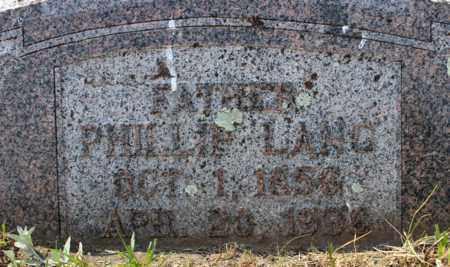 LANG, PHILLIP - Stutsman County, North Dakota   PHILLIP LANG - North Dakota Gravestone Photos