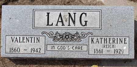 LANG, KATHERINE - Stutsman County, North Dakota | KATHERINE LANG - North Dakota Gravestone Photos