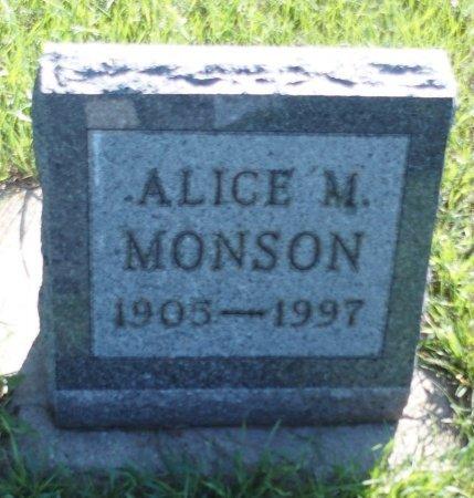WEATHERBEE MONSON, ALICE M - Stutsman County, North Dakota | ALICE M WEATHERBEE MONSON - North Dakota Gravestone Photos