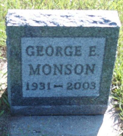 MONSON, GEORGE EDWARD - Stutsman County, North Dakota | GEORGE EDWARD MONSON - North Dakota Gravestone Photos