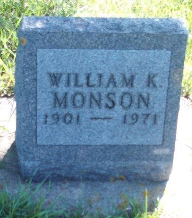MONSON, WILLIAM K. - Stutsman County, North Dakota | WILLIAM K. MONSON - North Dakota Gravestone Photos