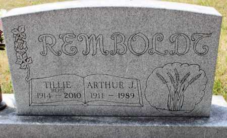 REMBOLDT, ARTHUR J. - Stutsman County, North Dakota | ARTHUR J. REMBOLDT - North Dakota Gravestone Photos
