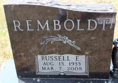 REMBOLDT, RUSSEL E. - Stutsman County, North Dakota | RUSSEL E. REMBOLDT - North Dakota Gravestone Photos