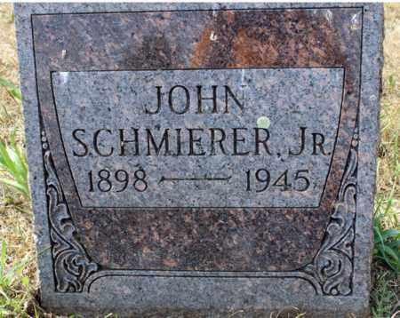 SCHMIERER, JOHN, JR. - Stutsman County, North Dakota | JOHN, JR. SCHMIERER - North Dakota Gravestone Photos