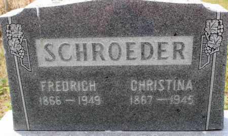 SCHROEDER, CHRISTINA - Stutsman County, North Dakota | CHRISTINA SCHROEDER - North Dakota Gravestone Photos