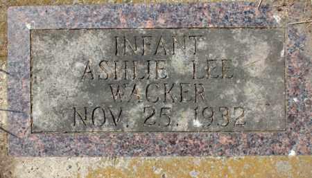 WACKER, ASHLIE LEE - Stutsman County, North Dakota | ASHLIE LEE WACKER - North Dakota Gravestone Photos