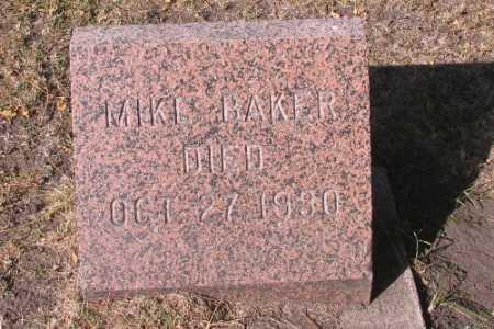 BAKER, MIKE - Traill County, North Dakota   MIKE BAKER - North Dakota Gravestone Photos
