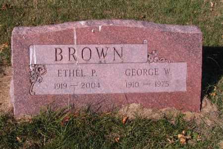 BROWN, ETHEL P. - Traill County, North Dakota   ETHEL P. BROWN - North Dakota Gravestone Photos