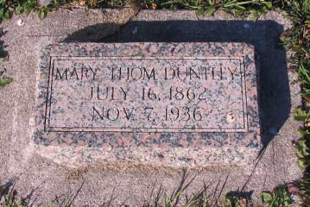 THOM DUNTLEY, MARY - Traill County, North Dakota | MARY THOM DUNTLEY - North Dakota Gravestone Photos
