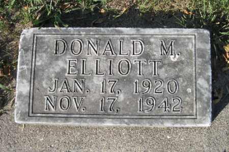 ELLIOTT, DONALD M. - Traill County, North Dakota | DONALD M. ELLIOTT - North Dakota Gravestone Photos
