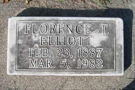 ELLIOTT, FLORENCE T. - Traill County, North Dakota | FLORENCE T. ELLIOTT - North Dakota Gravestone Photos