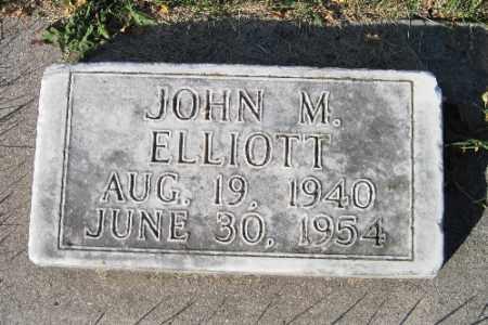 ELLIOTT, JOHN M. - Traill County, North Dakota   JOHN M. ELLIOTT - North Dakota Gravestone Photos