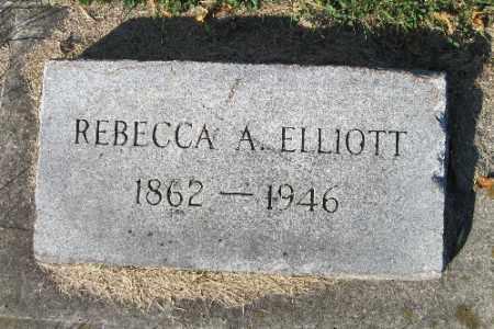 ELLIOTT, REBECCA A. - Traill County, North Dakota   REBECCA A. ELLIOTT - North Dakota Gravestone Photos