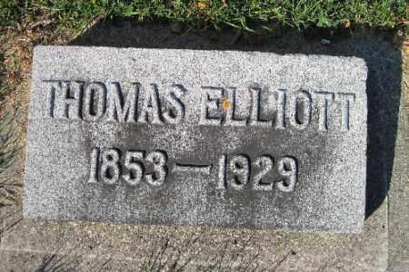 ELLIOTT, THOMAS - Traill County, North Dakota   THOMAS ELLIOTT - North Dakota Gravestone Photos