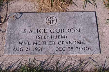 GORDON, S. ALICE - Traill County, North Dakota   S. ALICE GORDON - North Dakota Gravestone Photos