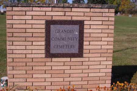 SIGN GRANDIN, COMMUNITY CEMETERY - Traill County, North Dakota | COMMUNITY CEMETERY SIGN GRANDIN - North Dakota Gravestone Photos