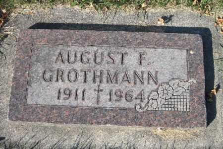 GROTHMANN, AUGUST F. - Traill County, North Dakota | AUGUST F. GROTHMANN - North Dakota Gravestone Photos