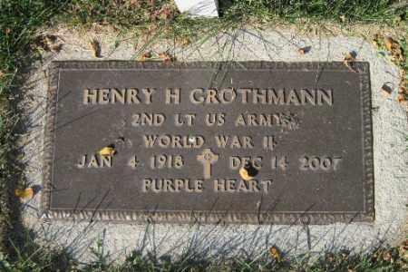 GROTHMANN, HENRY H. - Traill County, North Dakota   HENRY H. GROTHMANN - North Dakota Gravestone Photos