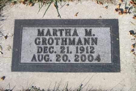 GROTHMANN, MARTHA M. - Traill County, North Dakota | MARTHA M. GROTHMANN - North Dakota Gravestone Photos