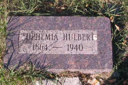 HULBERT, EUPHEMIA - Traill County, North Dakota | EUPHEMIA HULBERT - North Dakota Gravestone Photos