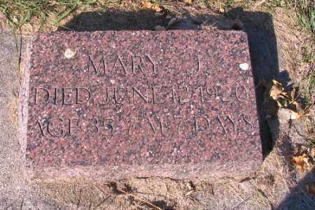 HUNTER, MARY J. - Traill County, North Dakota   MARY J. HUNTER - North Dakota Gravestone Photos