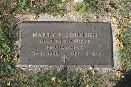 JOHNSON, MARTY F. - Traill County, North Dakota   MARTY F. JOHNSON - North Dakota Gravestone Photos