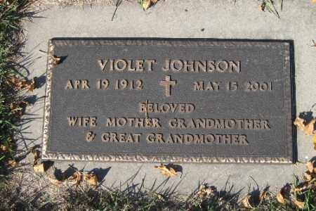 JOHNSON, VIOLET - Traill County, North Dakota | VIOLET JOHNSON - North Dakota Gravestone Photos
