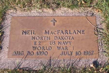 MACFARLANE, NEIL - Traill County, North Dakota | NEIL MACFARLANE - North Dakota Gravestone Photos
